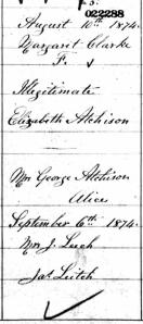 1874. Ontario Births