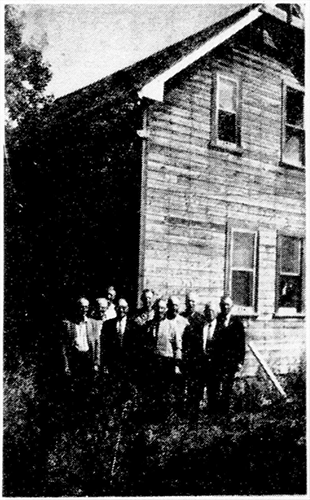 This is the original Mowat school located on the boundary of Mossey River and Dauphin.