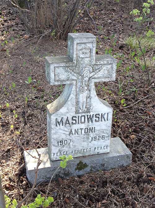 Anton Masiowski's headstone